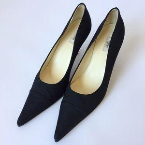 Prada Black Pointy Toe Kitten Heels - LN, Sz. 38/8